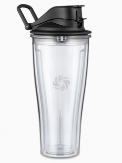 Flip top reise cup / Smoothie flaske 0,6L