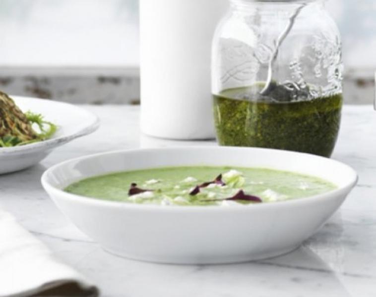 Asparges og Erte Suppe