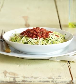 Zucchini Pasta med Pomodoro Sauce