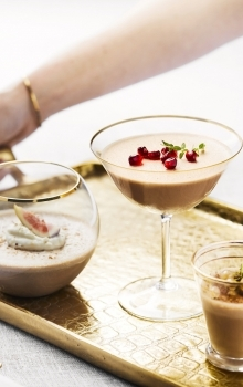Sjokolade og fiken pudding