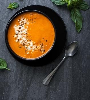 Suppe med Stekt Rød Paprika